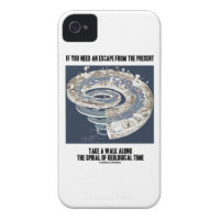 Escape From Present Walk Along Geological Time Case-Mate iPhone 4 Case