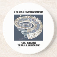 Escape From Present Walk Along Geological Time Drink Coaster