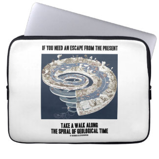 Escape From Present Walk Along Geological Time Computer Sleeve