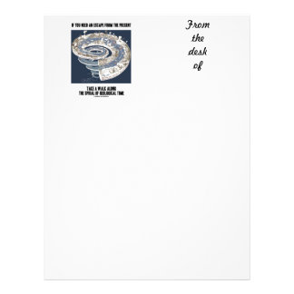 Escape From Present Walk Along Geological Time Letterhead
