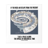 Escape From Present Walk Along Geological Time Memo Pads