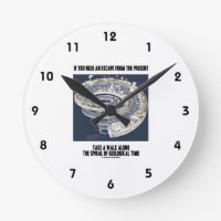 Escape From Present Walk Along Geological Time Round Wallclocks