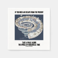 Escape From Present Walk Along Geological Time Standard Cocktail Napkin
