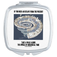 Escape From Present Walk Along Geological Time Travel Mirror