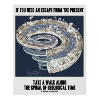 Escape From Present Walk Spiral Geological Time Poster