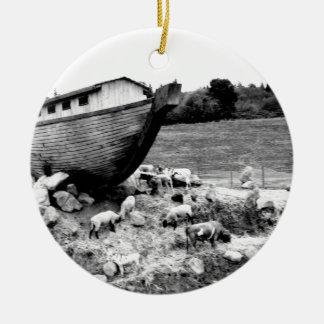 Escape from the Ark Ceramic Ornament