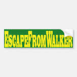 Escape From Walker Car Bumper Sticker