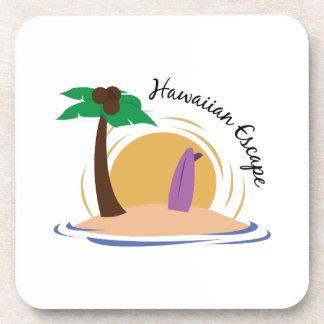 Escape hawaiano posavasos de bebidas