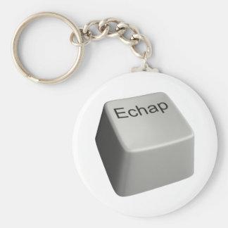 Escape key basic round button keychain
