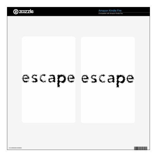 Escape Kindle Fire Pegatina Skin