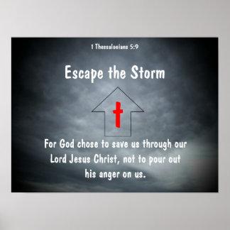 Escape la tormenta poster