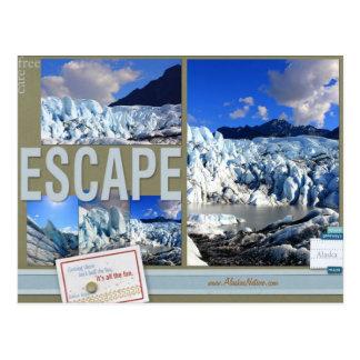 Escape libre del cuidado a la postal de Alaska