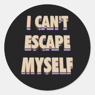 Escape Myself Sticker 3D