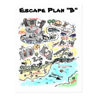 """Escape Plan """"B"""" Postcard"""