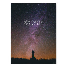 """ESCAPE. - Poster (12"""" x 16"""")"""