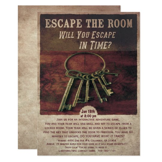 Escape Room Party Invitation Zazzle Com