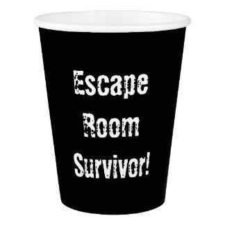 """Escape Room"" Party Paper Cups"