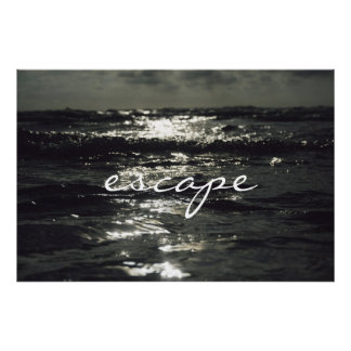 Escape seascape Poster