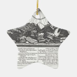 Escape sobre su nueva ley de derechos de autor de adorno navideño de cerámica en forma de estrella