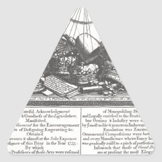 Escape sobre su nueva ley de derechos de autor de pegatina triangular