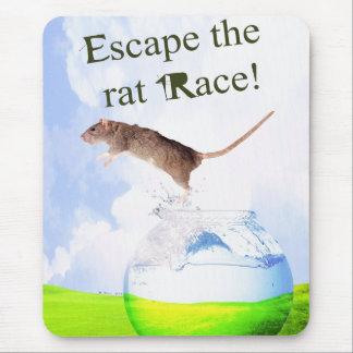 Escape The Rat Race! Mouse Pad