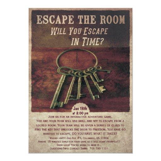 Free Escape Room Invitation Template