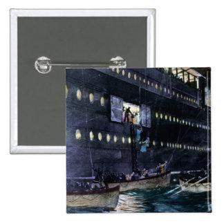 ¡Escape titánico del RMS a los botes salvavidas rá Pins