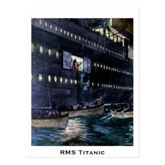 ¡Escape titánico del RMS a los botes salvavidas Tarjeta Postal