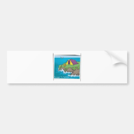 Escape to nature bumper sticker