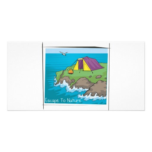 Escape to nature photo greeting card