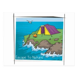 Escape to nature postcards