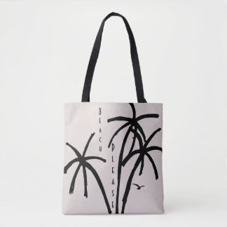 Escape to the Beach Fun Minimalist Beach Tote Bag