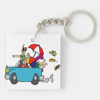 Escape to the Beach Keychain