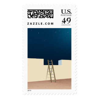 Escape To The Stars Postage Stamps