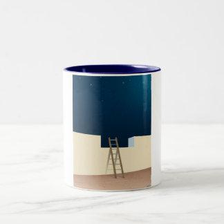 Escape To The Stars Two-Tone Coffee Mug