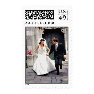 Escape Wedding Invitations Postage Stamp