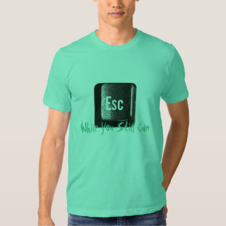 Escape While You Still Can Esc Key Keyboard T-shirt