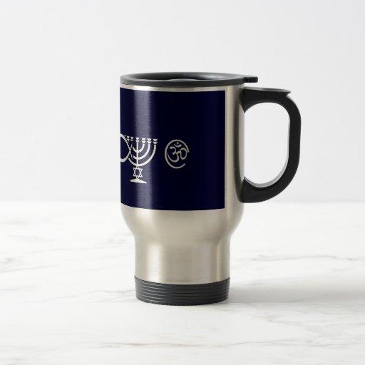 Escape - White 15 Oz Stainless Steel Travel Mug