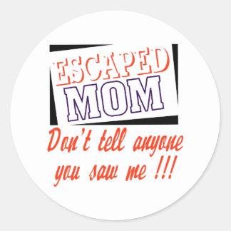 Escaped Mom Classic Round Sticker