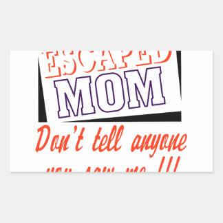 Escaped Mom Rectangular Sticker