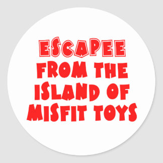 Escapee from the Island of Misfit Toys Classic Round Sticker