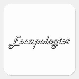 Escapologist Classic Job Design Square Sticker