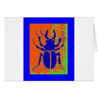 Escarabajo azul en la tierra anaranjada por Sharle Tarjeta De Felicitación