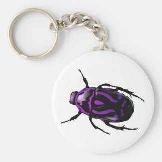 Escarabajo coloreado Insecto-Salvaje conseguido Llavero Redondo Tipo Pin
