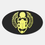 Escarabajo con alas calcomanías de ovales