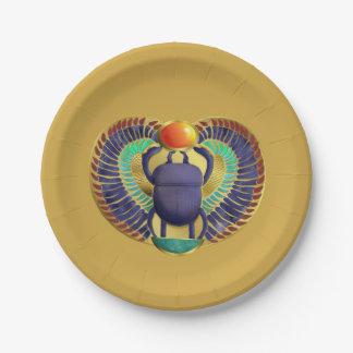 Escarabajo con alas de oro platos de papel