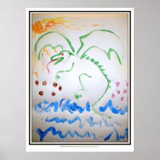 Escarabajo-Consumición del dragón de agua Posters