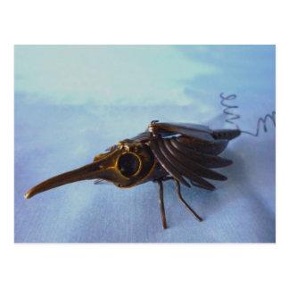 Escarabajo de cobre amarillo del perforador tarjetas postales