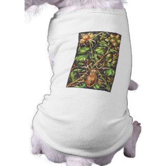 Escarabajo de cuernos en Brown Camiseta De Perro
