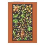 Escarabajo de cuernos en Brown Tarjeta